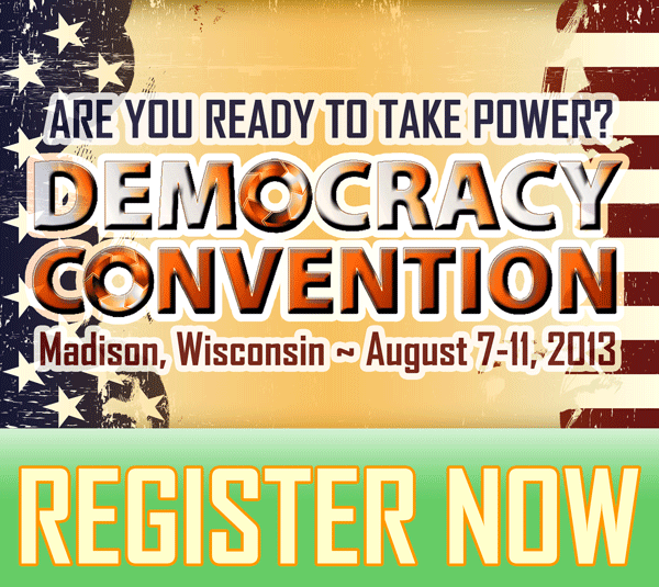 Democracy Convention - register now
